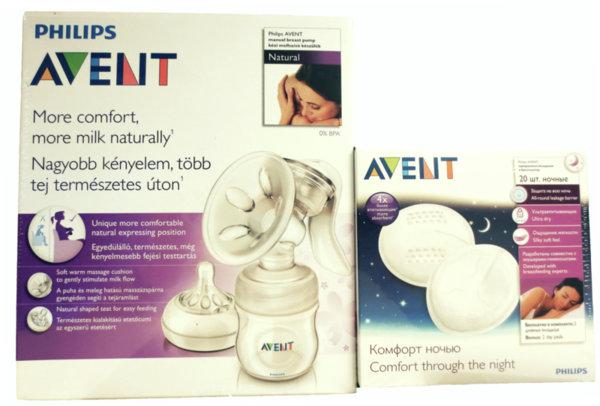 Ръчна помпа за изцеждане – Comfort + подарък 20 бр. нощни подплънки